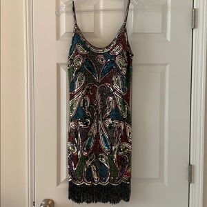 Sherri Hill multicolored homecoming dress
